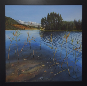 Loch Pityoulish painting angus grant art
