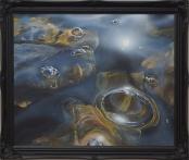Sunny bubbles on loch Ericht
