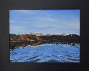 Angus Grant fine art painting Loch Morlich