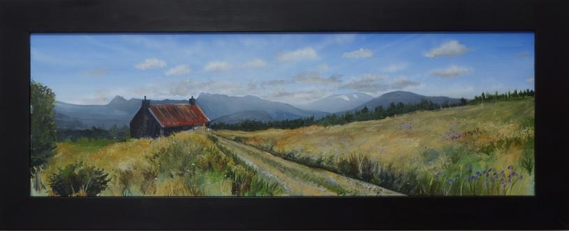 Rynettin farm angus grant fine art painting highland landscape