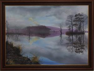 Loch Mallachie fine art acrylic painting