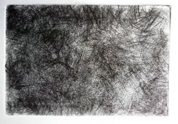 Mezzotint plate printmaking