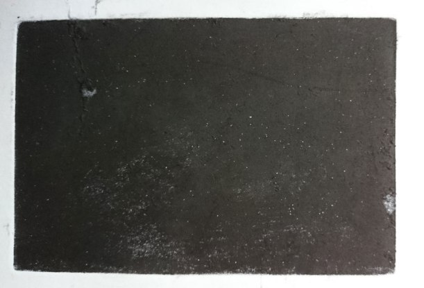 (12 hours later) You will have vowed never to mezzotint a copper plate by hand again, but your 10x15cm plate will print a nice rich plack.