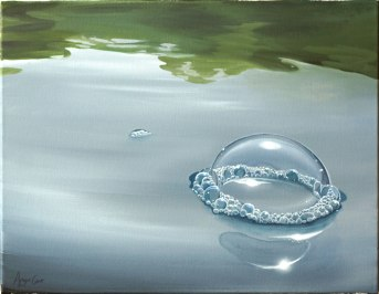 A big bubble on the water