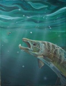 Green-salmon