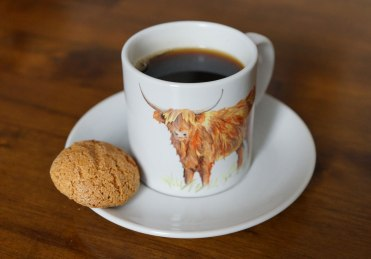 Highland cow, cup and saucer, coffee cup