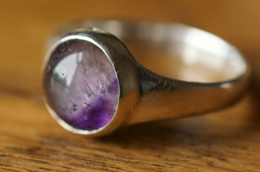 Amethyst ring silversmithing