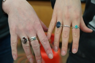 Silversmithing workshop rings