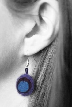 Felt earring