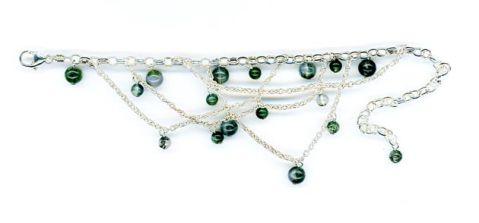 Malachite bracelet beads