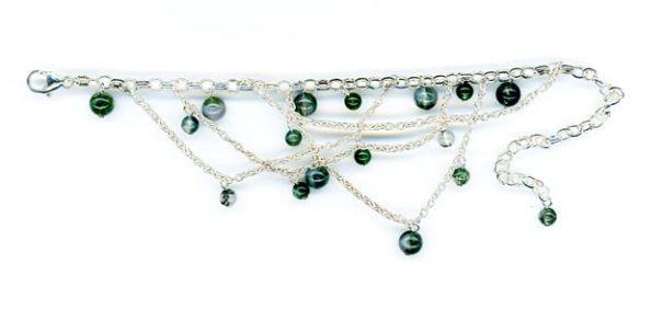 Malachite bracelet beads, Angus Grant Art