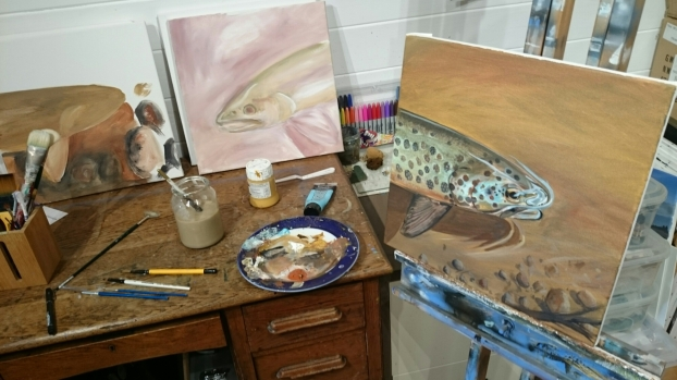 Fishy painting in progress