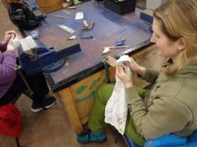 Silversmithing workshop, Angus Grant Art