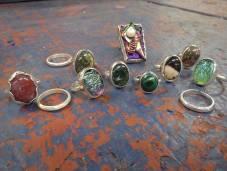 Silver rings, Angus Grant Art
