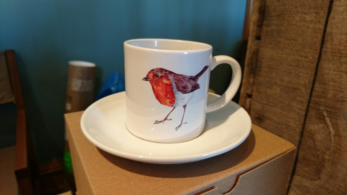 Robin cup and saucer