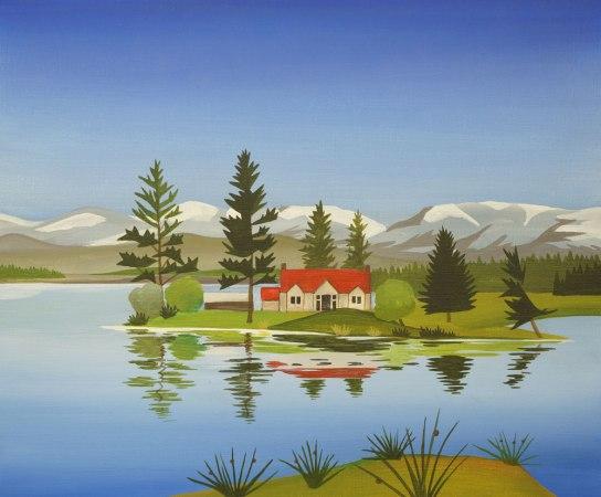 Avielochan painting, Angus Grant Art