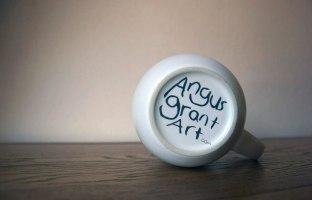 The base of an Angus Grant Art mug