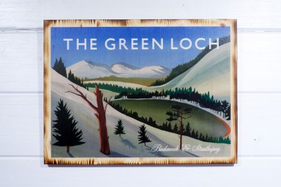The Green Loch pine print by Angus Grant Art