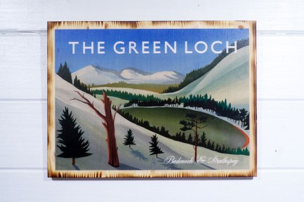 The Green Loch pine print