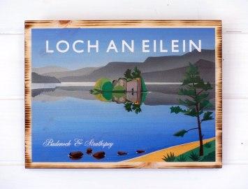 Loch an Eilein pine print by Angus Grant Art