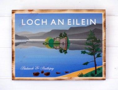 Loch an Eilein pine print