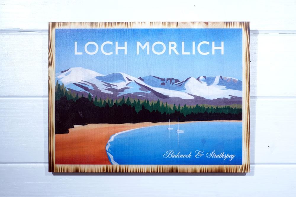 Loch Morlich Beach pine print