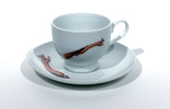 Red Squirrel Tea Cup and Saucer