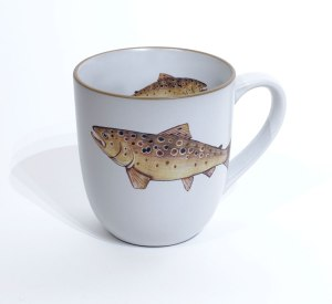 Trout Chunky Mug by Angus Grant Art