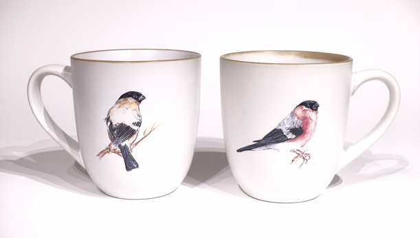 Bullfinch chunky mug by Angus Grant Art