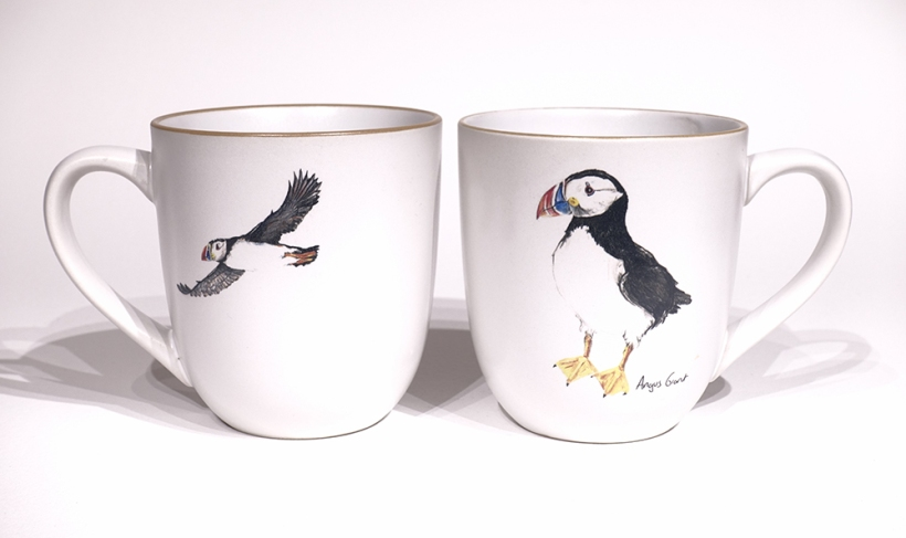 Puffin chunky mug by Angus Grant Art