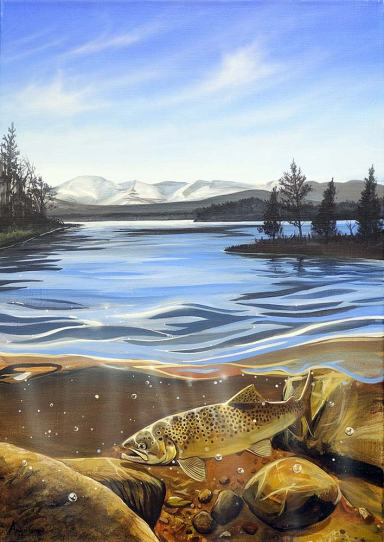 Cairngorm Gold painting by Angus Grant