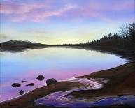 Morlich Magic by Angus Grant, Loch Morlich painting