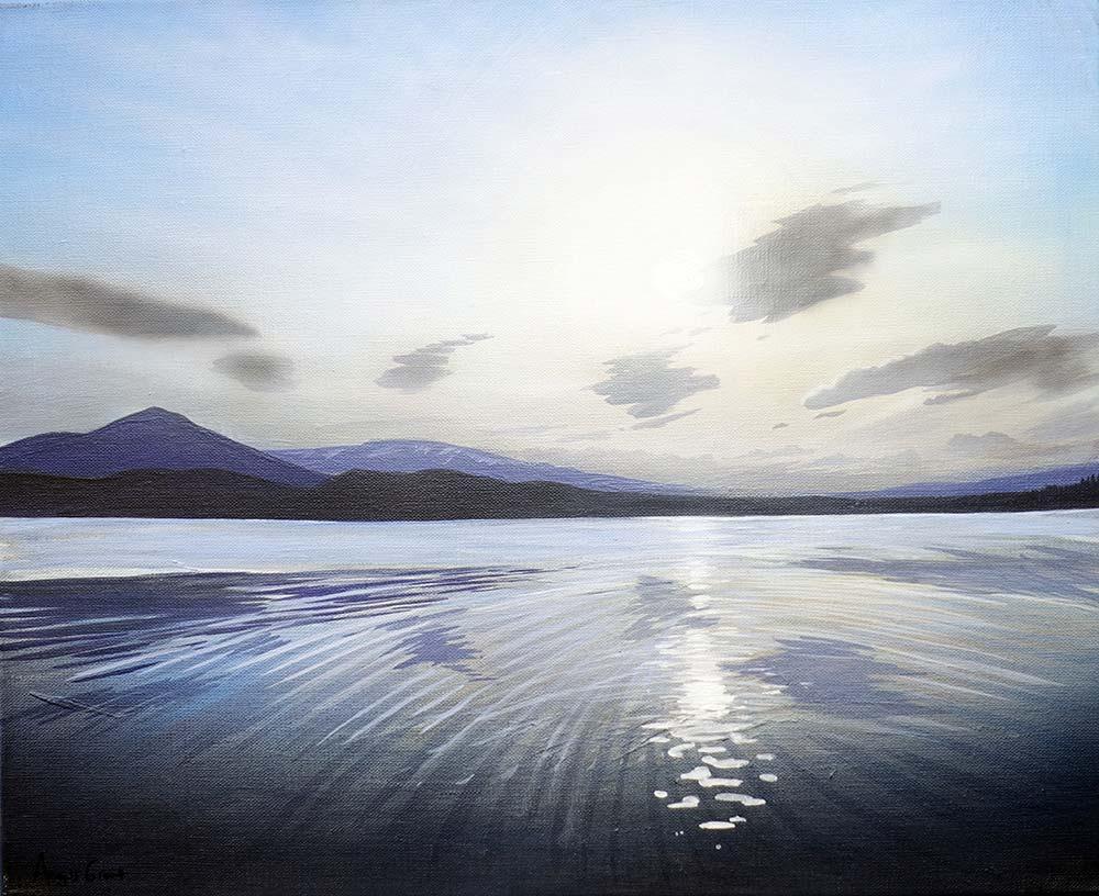 Metallic Morlich by Angus Grant, Loch Morlich painting