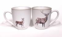 Deer chunky mug by Angus Grant