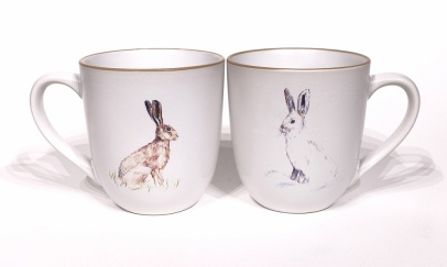 Hare chunky mug by Angus Grant