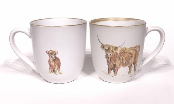 Highland Cow chunky mug by Angus Grant