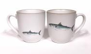 Mackerel chunky mug by Angus Grant