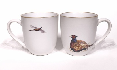 Pheasant chunky mug by Angus Grant