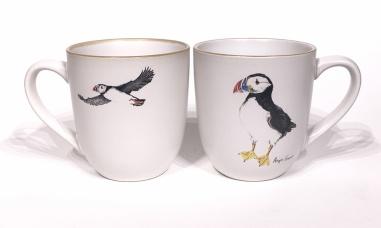 Puffin chunky mug by Angus Grant