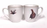 Red Grouse chunky mug by Angus Grant