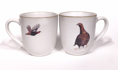 Red Grouse chunky mug by Angus Grant