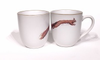 Red Squirrel chunky mug by Angus Grant