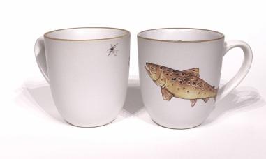 Trout chunky mug by Angus Grant