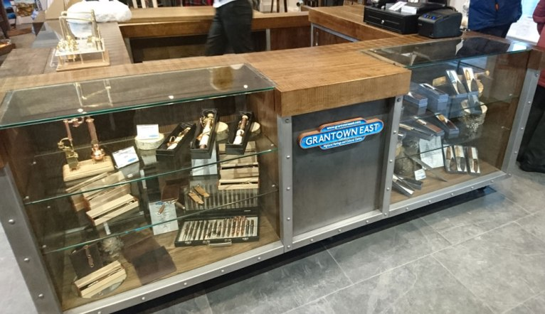 View of shop counter at Grantown East Highland Heritage and Cultural Centre