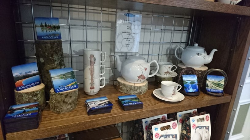 Display of Angus Grant Art Products at Grantown East