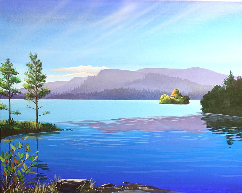 Loch an Eilein by Angus Grant Art