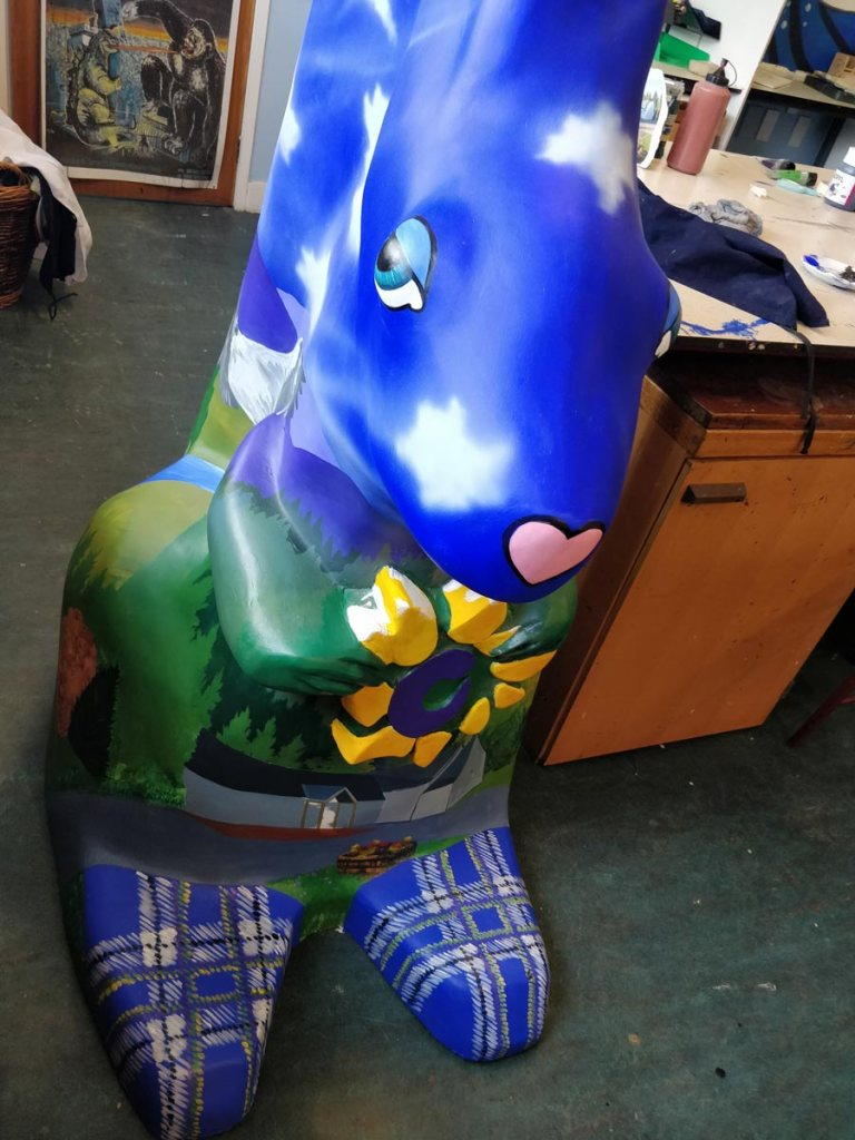 Finished Boat of Garten squirrel by Angus Grant Art for the Highland Hospice