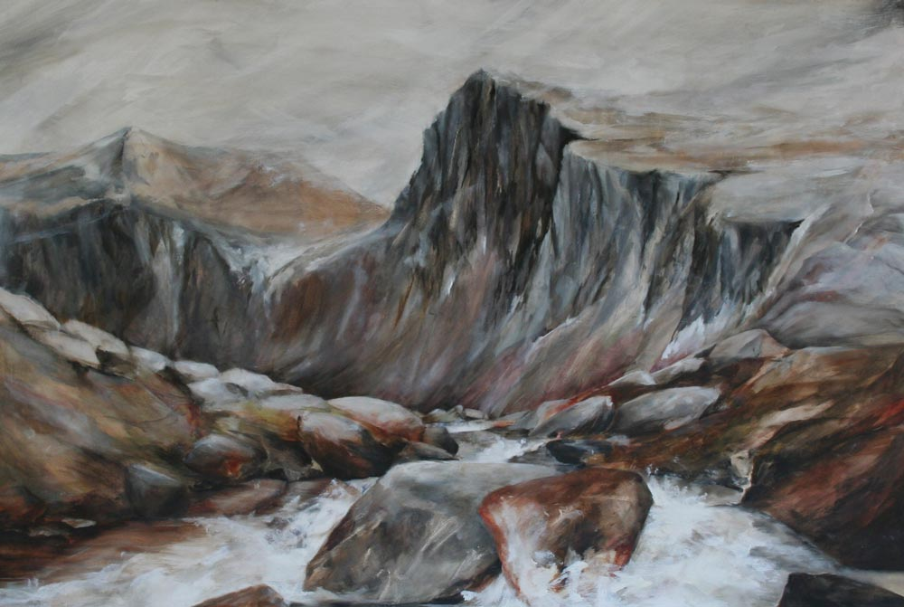 Carn Etchachan painting by Elizabeth Pirie, Into the Cairngorms exhibition