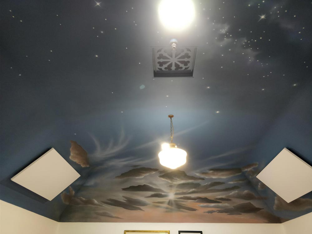 Finished ceiling, Freemasons Lodge, Grantown-on-Spey, Angus Grant Art