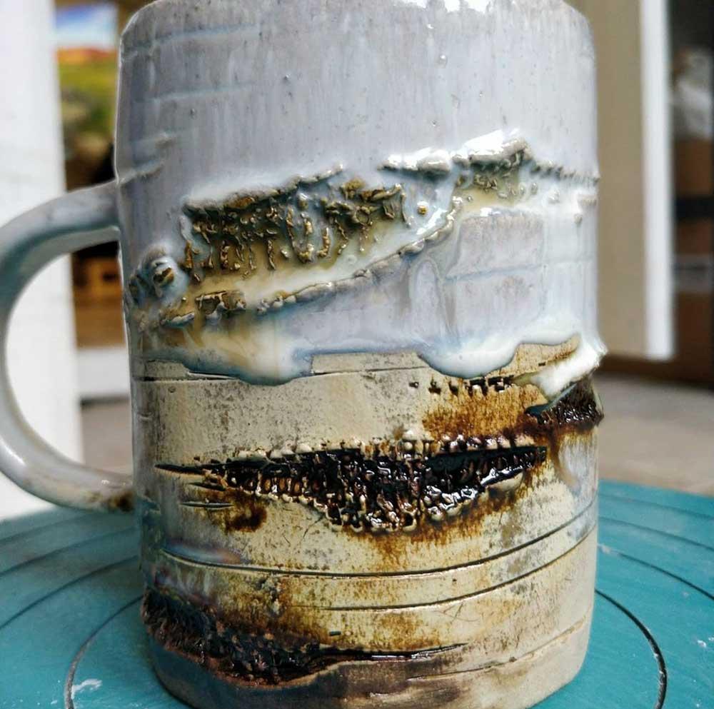 Tree mug experiments by Angus Grant Art